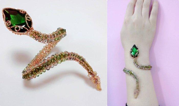 小青蛇型水晶18Kgf手環˙Jill&Joe王 獨家設計款*施華洛世奇元素水晶˙信用卡 超商可