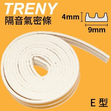 【TRENY直營】隔音氣密條(2L) 2.5米-白 E0409 快速填縫 隔絕風沙灰塵 加強隔音 HD-H-36A