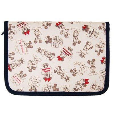 尼德斯Nydus~* 日本正版 迪士尼 米奇 米妮 零錢包 證件夾 護照套 多用途 手拿包 手帳 插畫款