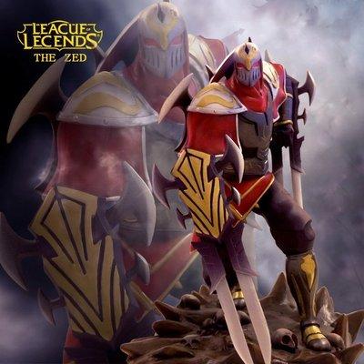 【紫色風鈴3.3】英雄聯盟LOL 大版影流之主-劫模型盒裝擺件 港版