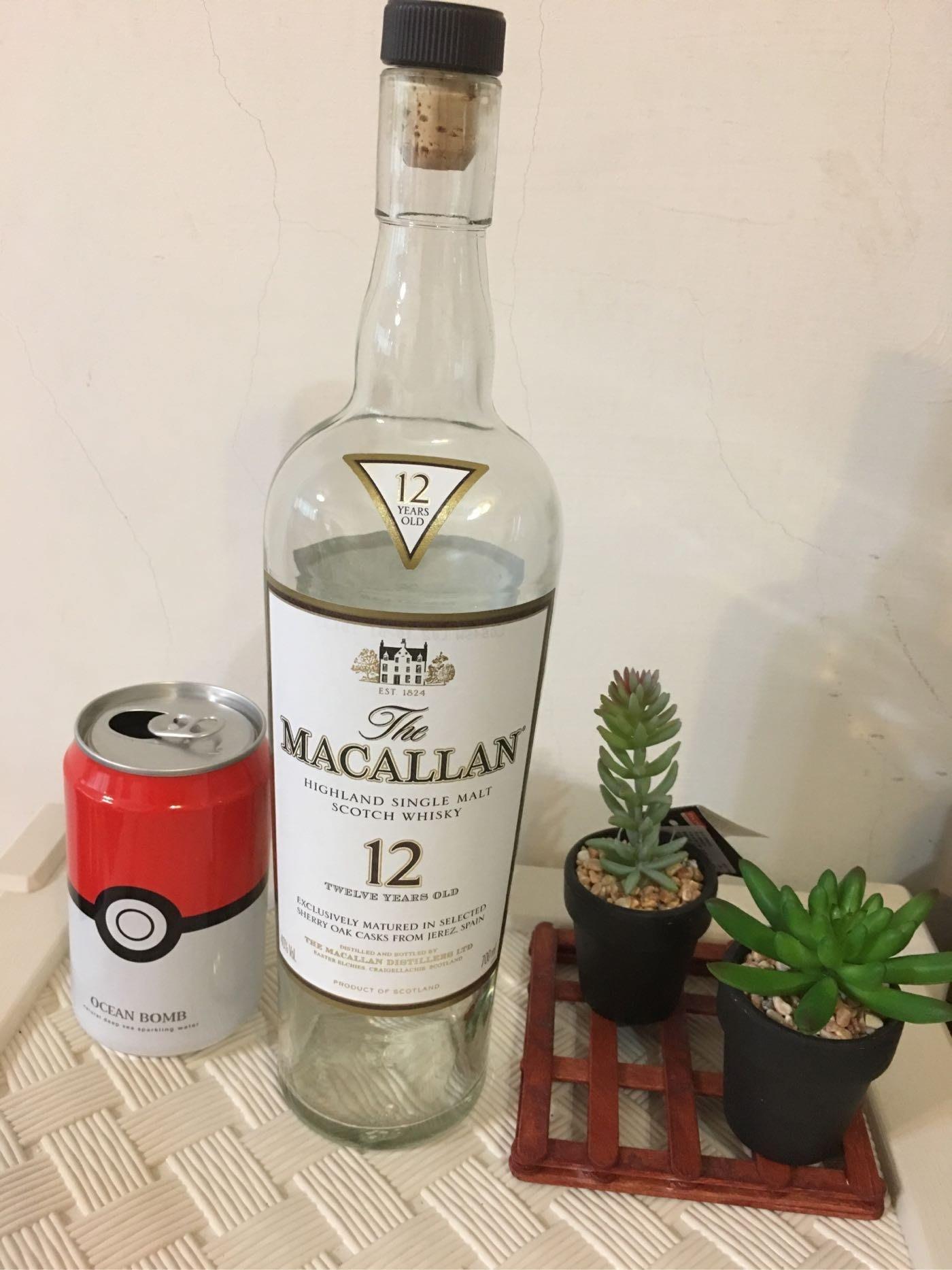 《Nice》蘇格蘭 麥卡倫 12年經典雪莉桶 單一純麥威士忌-空酒瓶 700ml
