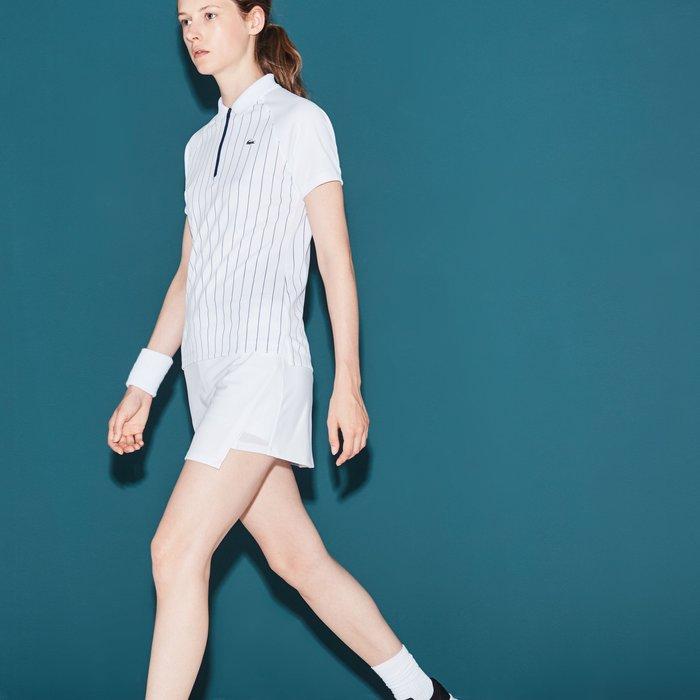 元豐東運動用品~全新Lacoste Women Fall Wrap Skirt白色褲裙36號/2018年款