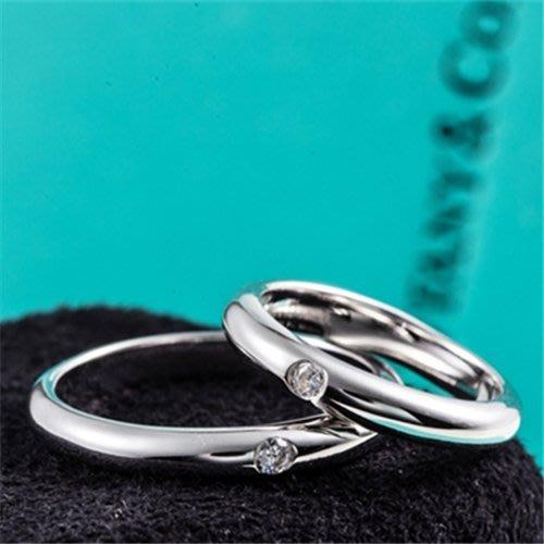 T家對戒 純銀包厚鉑金鑲嵌小仿真鑽對戒 求婚結婚鉆鑽求婚 結婚仿真鑽石手飾 一支3500一對4900 FOREVER鑽寶