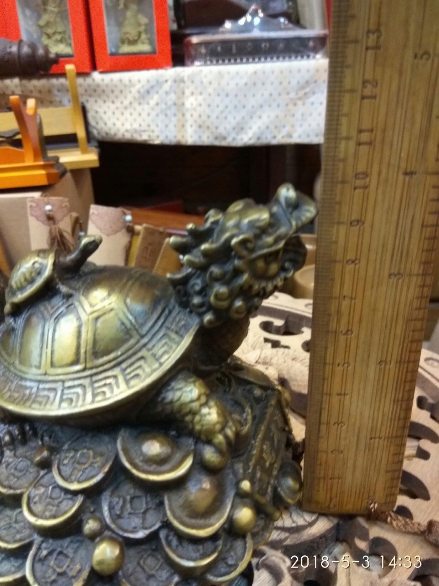 銅雕招財龍龜