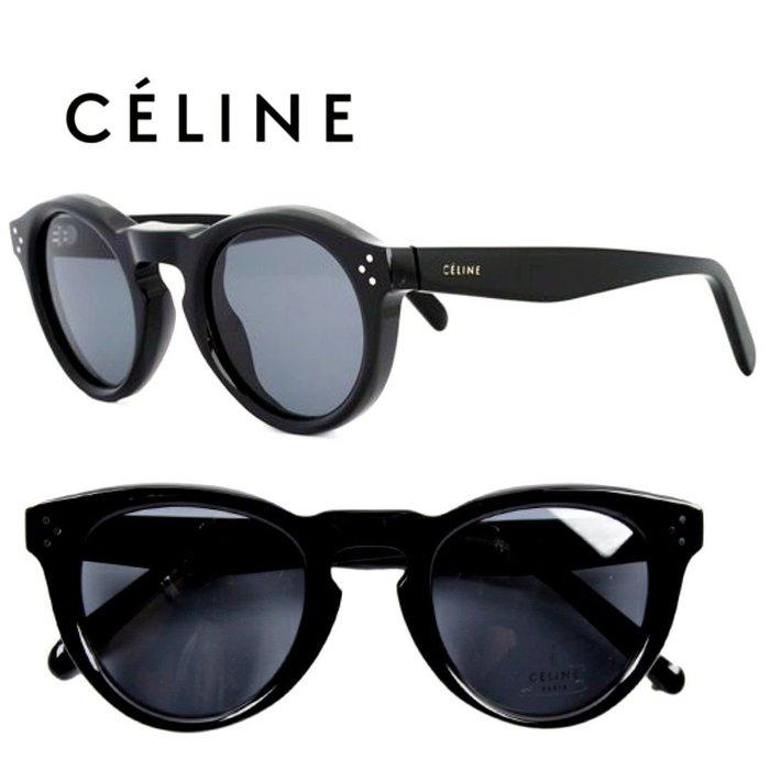 CELINE►BEVEL Asian Fit (黑色框×深煙灰色鏡片)  貓眼框型 太陽眼鏡 墨鏡 中性款|100%全新正品|特價!