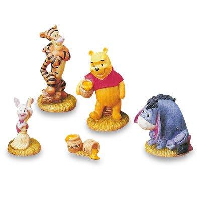 X射線【C703084】日本代購-小熊維尼Winnie the Pooh 擺飾5入,絨毛/填充玩偶/玩具/公仔/收納/擺