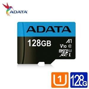 威剛 Premier microSDXC UHS-I (A1) 128G記憶卡(附轉卡)