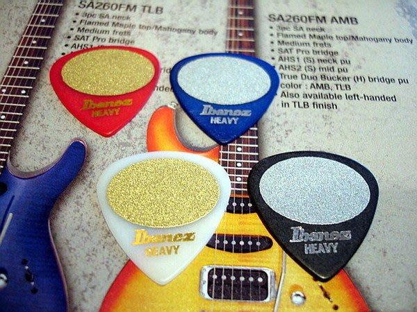 ☆ Tony Music 唐尼樂器︵☆全新 Ibanez 金沙超防滑電吉他/電貝斯/ Bass 用 Pick / 彈片