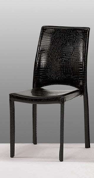 【DH】貨號G454-4《諾迪》鱷魚造型餐椅/洽談椅/單人椅˙質感一流˙簡約設計˙主要地區免運