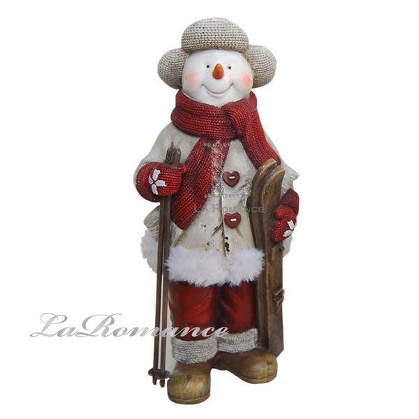 【芮洛蔓 La Romance】德國 Heidi 童趣家飾 - 聖誕童話站姿白衣滑雪雪人 / 交換禮物