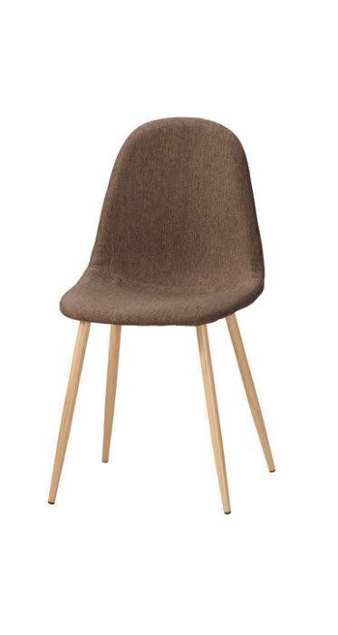 【DH】G1023-15妮芬餐椅(圖一)棕色布。備淺灰色布可選。居家/休閒/工商洽談椅/營業。多方位使用。主要地區免運費