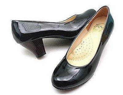 @糖果小舖@_☆素面乳胶粗跟实穿上班鞋.黑色款36号