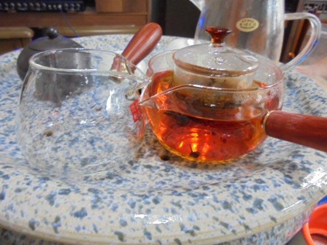 日式手工耐熱玻璃 茶壺 側把煮茶壺 泡茶壺 花茶壺 耐高溫 泡茶器 茶具組
