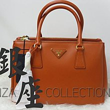 (銀座店) PRADA BN1801 粉橙色牛皮手袋 Papaya Orange Saffiano Lux Calf Leather HandBag 信用卡分期
