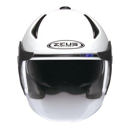 瑞獅ZEUS 安全帽  雙層鏡片 內建墨鏡 半罩 3/4罩 白色