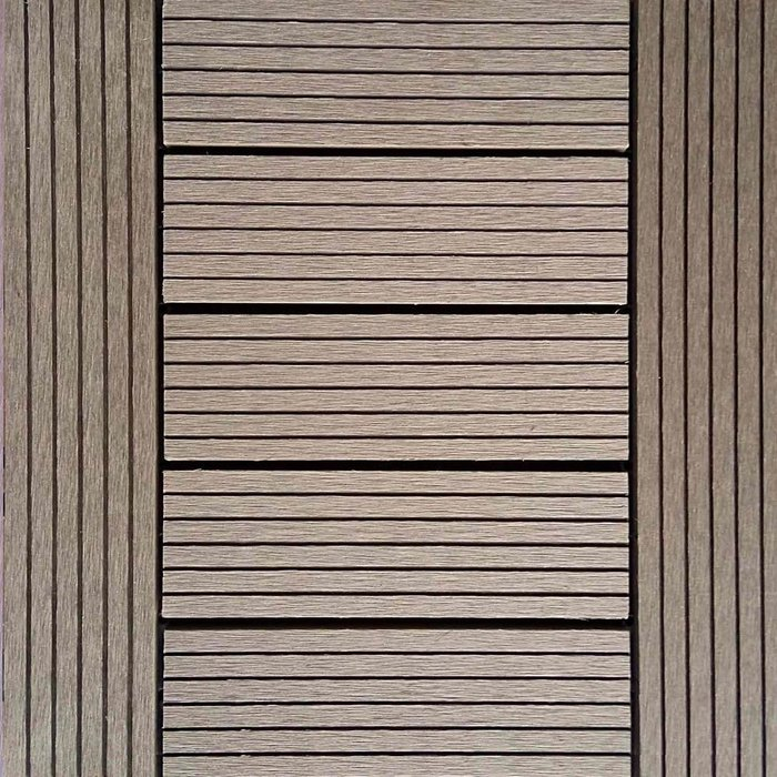 【貝力地板】BLINK太陽神戶外塑木地板DIY景觀佈置-1P4棕色H型(9片/箱)