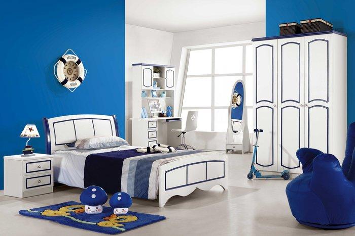 【大熊傢俱】樂屋 962  兒童床 單人床  床台 男孩床 儲物床  三門衣櫃 書桌 套房床組