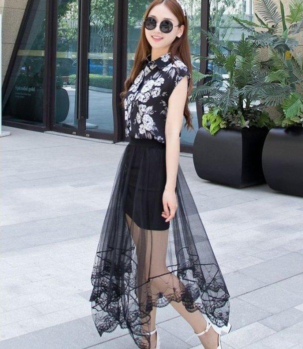 [[噗噗Store]]不規則長度的紗裙