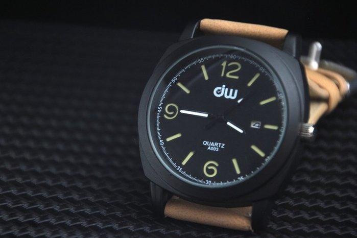艾曼達精品~mitina小沛風pilot style飛行風戰鬥機儀錶板,造型石英錶,清晰高反差刻度日期視窗~黑