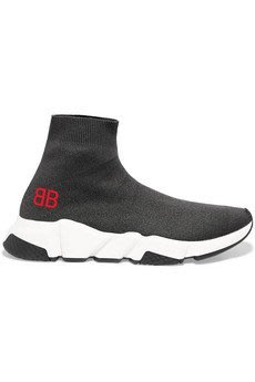 BALENCIAGA Speed stretch-knit high-top sneakers襪鞋