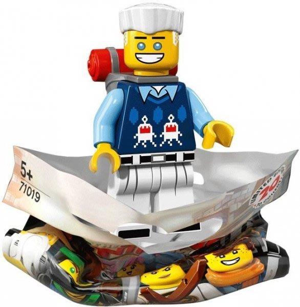 現貨【LEGO 樂高】積木 / 人偶包系列 忍者電影 71019   #10 便服冰忍+登山背包 Zane