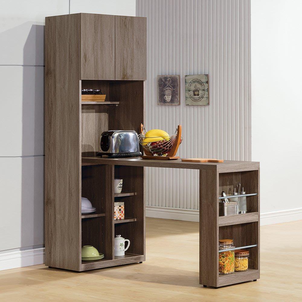 【森可家居】亞力士L型組合收納櫃(全組) 7ZX836-3 多功能餐桌櫃 廚房櫃 工業風 MIT台灣製造