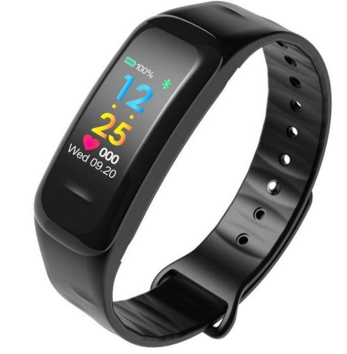 C1plus 彩屏  測心率血壓監測智慧手環   藍牙計步防水運動手環C1 plus C18