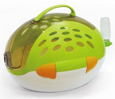 【優比寵物】ACEPET 魔法寶貝蛋運輸籠【綠色】NO645/提籠/寵物籠/外出籠/外出提籠(附飲水器及腳踏墊)