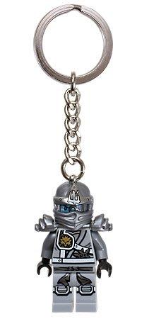 現貨【LEGO 樂高】美國官網正品 積木 鑰匙圈 人偶 吊飾/ 忍者系列Ninja: 鈦銀忍者 贊忍者 Zane