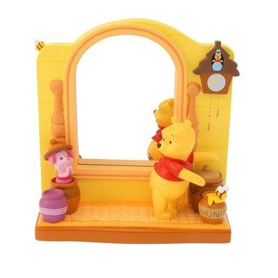 小熊維尼與小豬立體造型公仔鏡子 立鏡 日本迪士尼商店正品~彤小皮的遊go世界