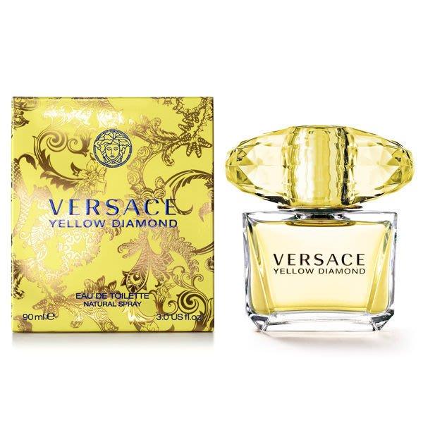 香親香愛~~Versace 香愛黃鑽淡香水 5ml Yellow Diamond 有 90
