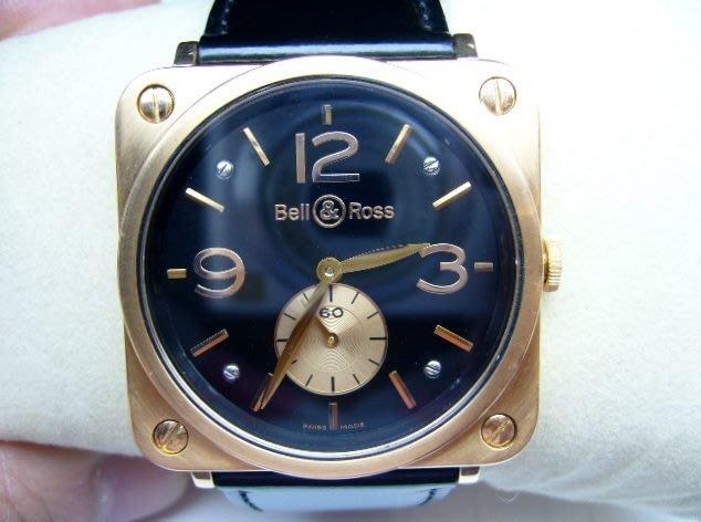 [吉宏精品交流中心]BELL&ROSS 柏萊士 18K玫瑰金 手上鍊機械 女錶