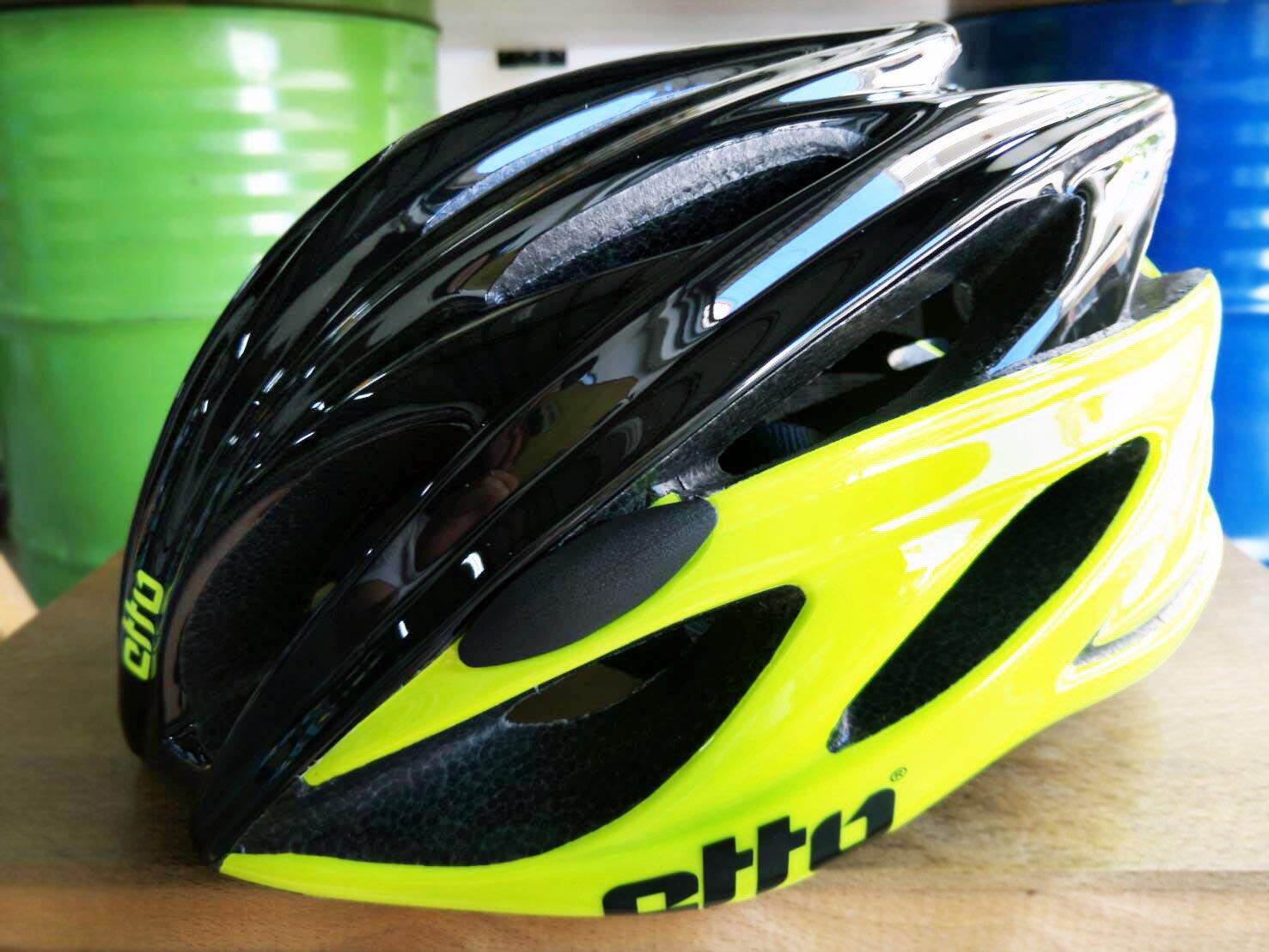 ~騎車趣~挪威 ETTO X6 自行車磁扣安全帽 黑螢光黃色 車帽 頭盔 贈舒士安全帽清潔噴劑