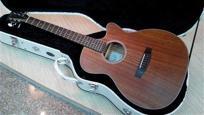 (弹心琴园乐器馆)顶级品牌Benson BF-MA2C GA桶缺角 全桃花心木吉他(台湾品牌)