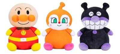 尼德斯Nydus 日本正版 麵包超人 細菌人 小病毒 紅精靈 柔軟抱枕 娃娃 公仔 約35cm