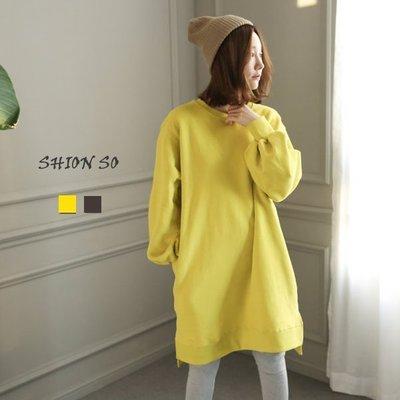 享瘦衣身中大尺碼【B1712】燈籠袖寬版長版上衣