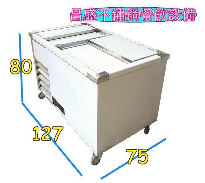 ♥昌盛不鏽鋼餐飲設備♥ 全新 紅茶冰 / 豆花台 / 豆花桶4桶+料盒6格 /飲料台 /水冷式豆花台