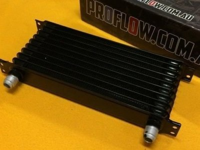 ☆光速改裝精品☆日式10排機油冷卻器冷排 AN10 黑色本體