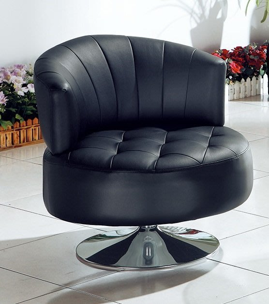 【DH】商品編號AB259-3商品名稱黑色皮革旋轉椅(圖一)360度旋轉。細膩優質經典。主要地區免運費