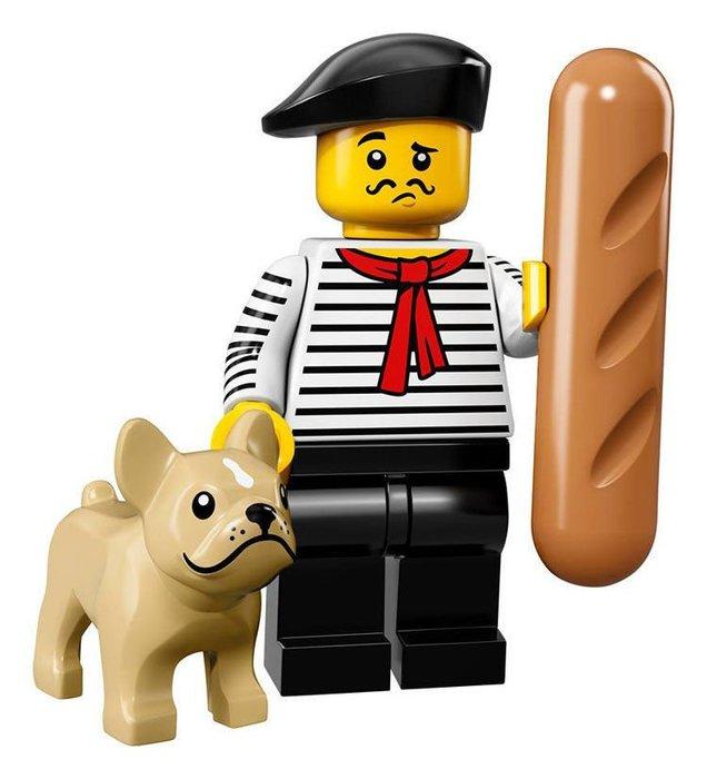 【LEGO 樂高】2017最新 積木/ Minifigures人偶包系列:17代 71018   #9 法國男+狗+麵包