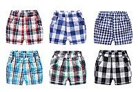 ✌✊✋NO.108童衣著 ⚽現貨6款⚽ 夏季款 男童85~120cm 純棉 經典時尚格紋短褲 鬆緊腰圍百搭休閒短褲