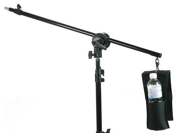 呈現攝影-小型延伸燈架 頂燈架 LS-06 燈架轉橫桿 二節 延伸桿 附水瓶袋 3/8公頭 離機閃