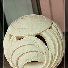 ~璟田~巴里島砂岩石燈~圓形流水曲線球燈~峇里島 雕刻花園燈具 直徑:30CM