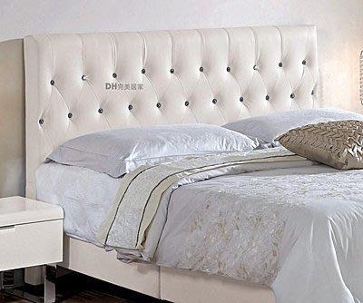 【DH】商貨號G179-18商品名稱《伊尼》5尺水鑽皮雙人床頭片。極緻經典,簡約優美設計。主要地區免運費