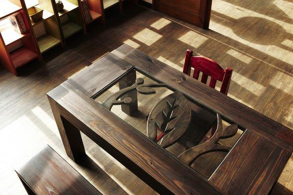原木工坊~ 原木收納空間配置  室內裝潢免設計費  厚實原木餐桌  也可做工作桌