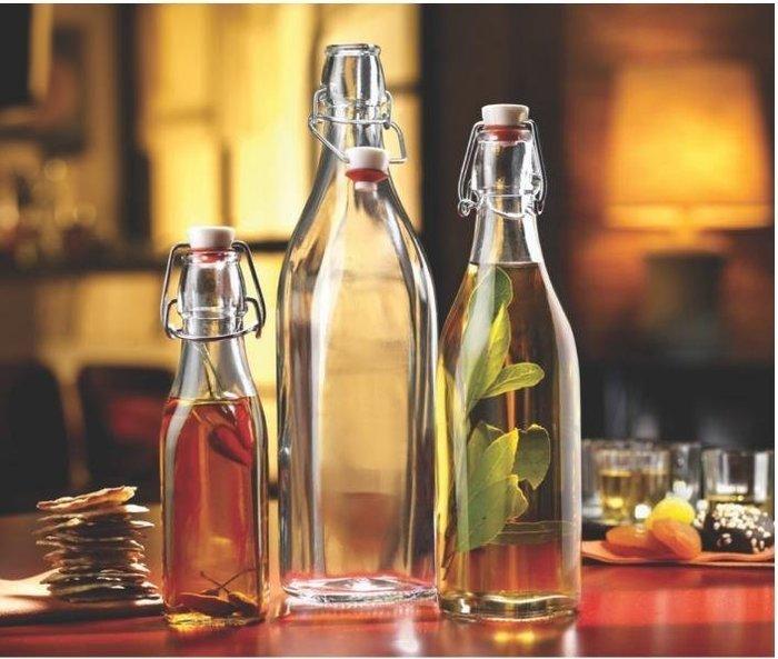 義大利 Bormioli Rocco☀波米歐立☀ㄟ密封玻璃瓶☀冷飲瓶☀果汁瓶☀牛奶瓶☀水瓶☀酵素瓶 500ml