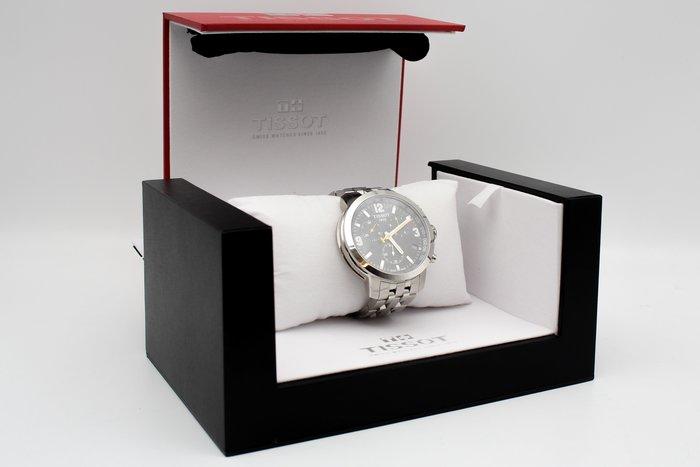 【高雄青蘋果3C】TISSOT 天梭  競速三眼計時腕錶-黑/銀/42mm T0554171105700 #27143