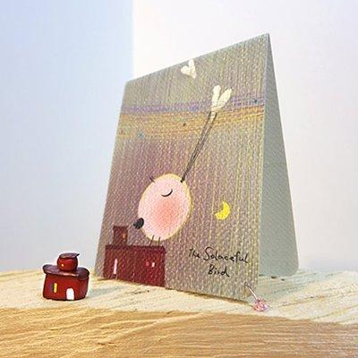 生日 卡片 小卡*守護-心意卡*不哭鳥