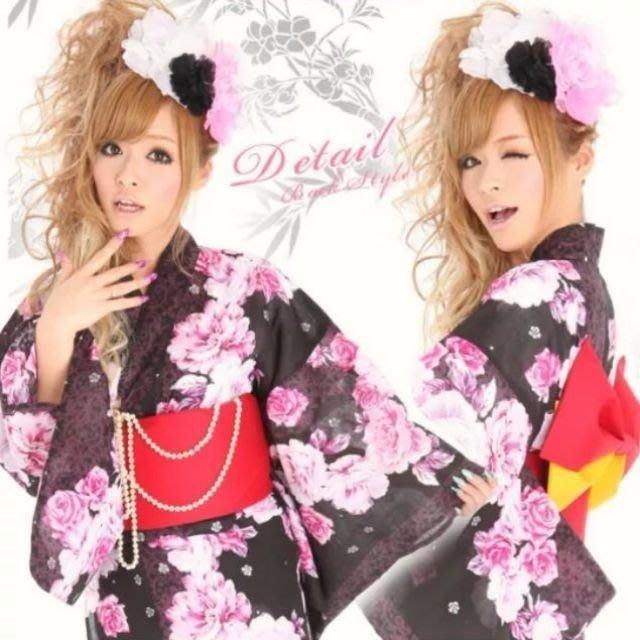 售 現貨 全新 和服  浴衣  5件組 角色扮演 表演 cosplay 天天出貨 日本 京都 煙火祭 尾牙 木屐 舞台