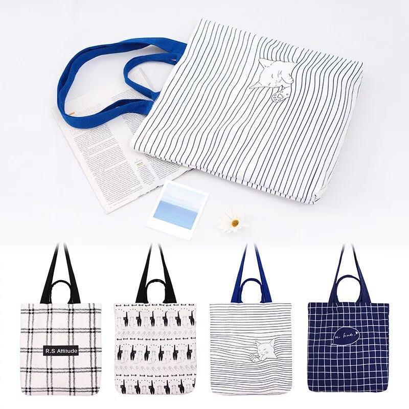 韓風時尚帆布包(RS格子款)